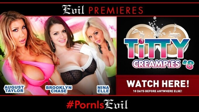 'Titty Creampies 8' Premieres on EvilAngel.com