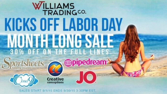 Williams Trading Co. Kicks Off Month Long Labor Day Sale