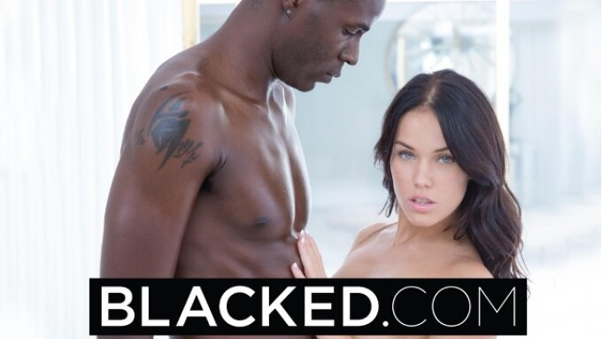 Blacked.com Unveils Megan Rain's First Interracial Scene