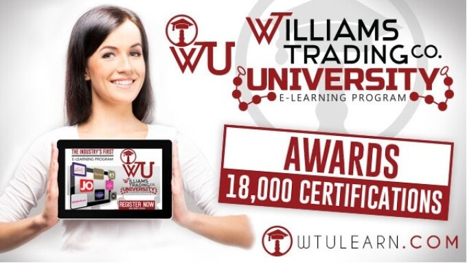 Williams Trading University Awards 18,000 e-Learning Certifications