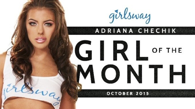 Adriana Chechik Named Girlsway Girl of the Month for October