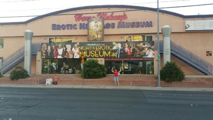 Smash Hangs Banner in Vegas to Promote 'Night at the Erotic Museum'