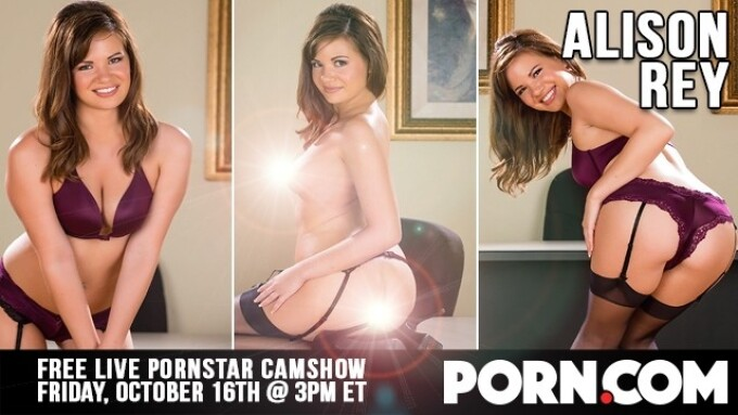 Alison Rey Streams Free Live Show This Friday on Porn.com