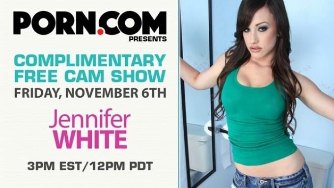 Porn.com Streaming Jennifer White on Friday