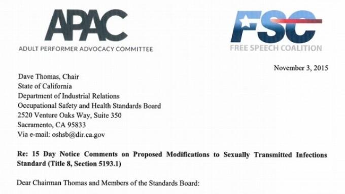 APAC, FSC Respond to Cal/OSHA Over Proposed Porn Regs