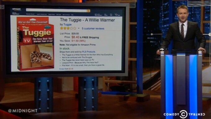 Pipedream's Tuggie Appears on Comedy Central's '@midnight'