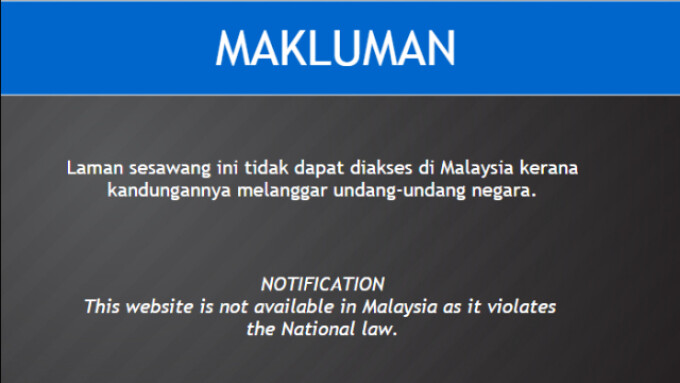 Malaysia Cuts Off Access to More Than 1,000 Adult Websites