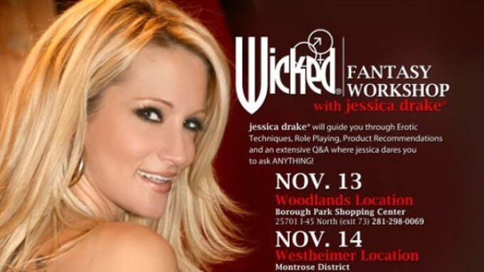 Jessica Drake to Lead Workshops at Adam & Eve Stores