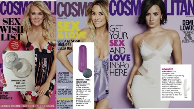 Jimmyjane Featured in 3 Fall Cosmopolitan Issues