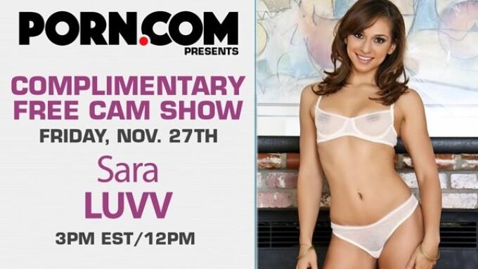 Sara Luvv Streams Free Cam Show Today on Porn.com