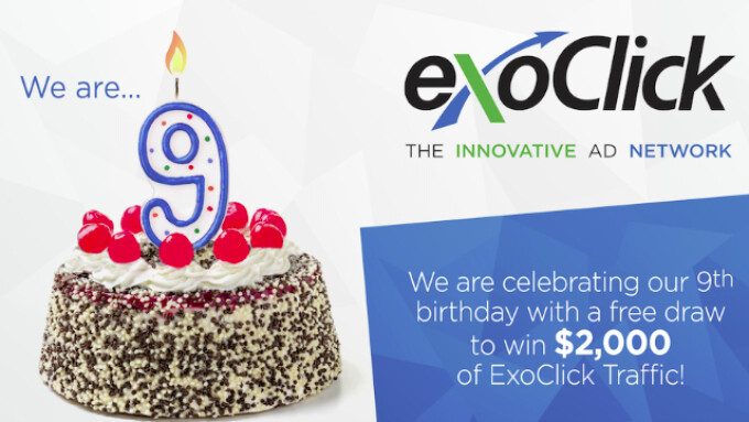 ExoClick Celebrates 9th Anniversary With $2,000 Drawing