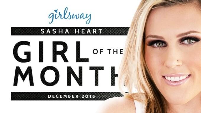 Sasha Heart Named Girlsway Girl of the Month for December