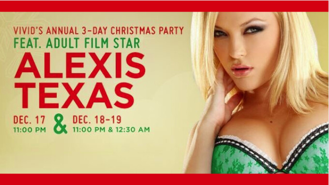 Vivid Club's 3-day Annual Xmas Party Features Alexis Texas