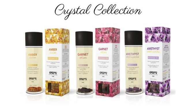 Exsens Debuts Crystal-Infused Massage Oils