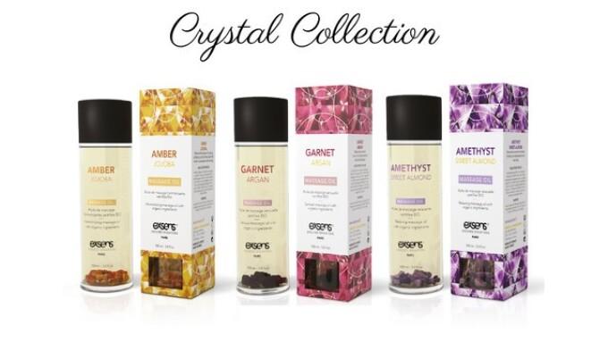 Exsens Debuts Crystal-Infused Massage Oils