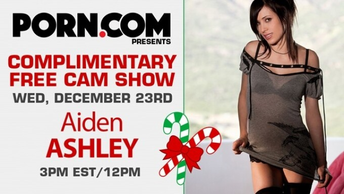 Aiden Ashley Debuts Free Live Cam Show on Porn.com This Wednesday