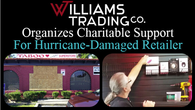 Williams Trading Organizes Aid for Hurricane-Damaged Adult Retailer