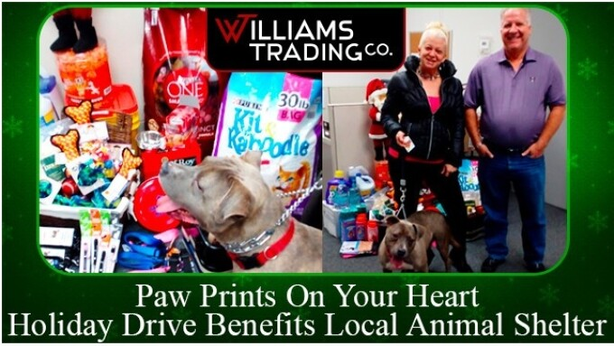 Williams Trading Donates to Local Animal Shelter