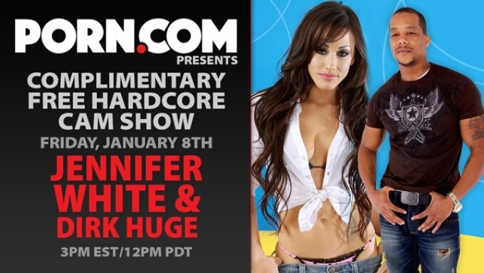 Jennifer White in Free Interracial Hardcore Cam Show This Friday
