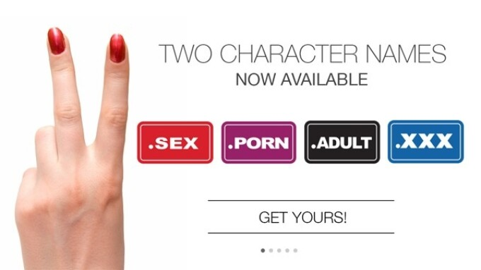 .XXX Releases 2 Character Domains