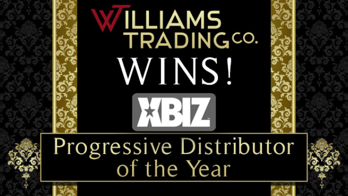 Williams Trading Wins 2016 XBIZ Progressive Distributor of the Year Award