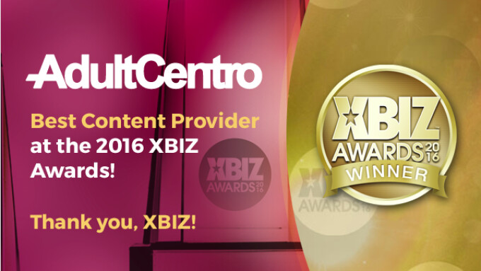 AdultCentro Named 2016 XBIZ Content Provider of the Year