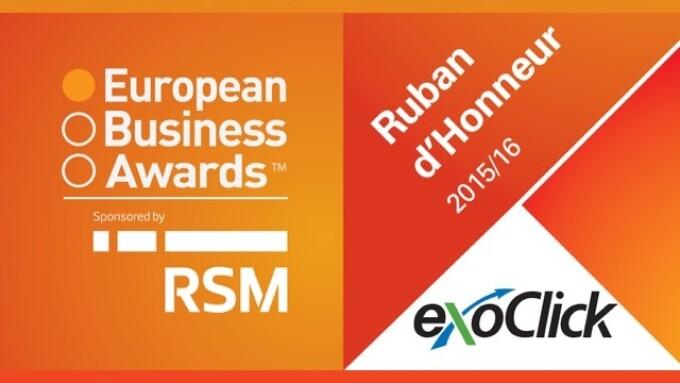 ExoClick Wins Ruban d'Honneur European Business Award