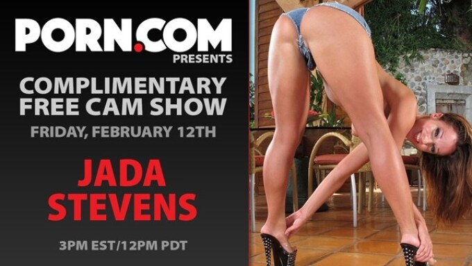 Jada Stevens in Free Cam Show, Friday on Porn.com