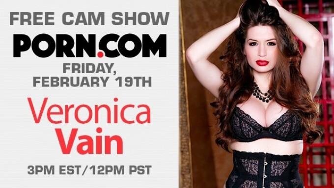 Veronica Vain Streams Free Cam Show Friday on Porn.com