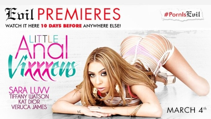 'Little Anal Vixxxens' Gets Premiere on EvilAngel.com