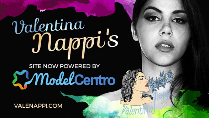 ModelCentro Launches Valentina Nappi's New Site
