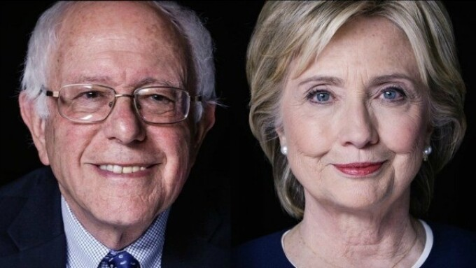 XBIZ Poll Shows Clinton, Sanders Are Favored Presidential Candidates