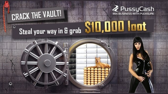 PussyCash Announces 'The Golden Bars Robbery' Affiliate Promo