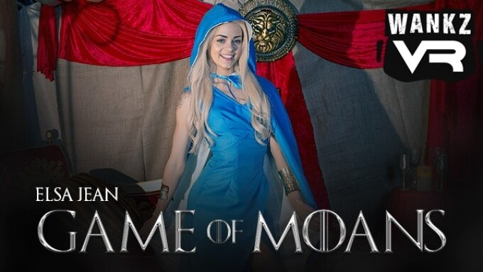 Elsa Jean Featured in WankzVR's Virtual Porn Parody 'Game of Moans'