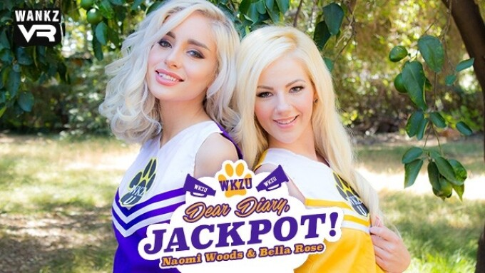 Naomi Woods, Bella Rose in WankzVR's 'Dear Diary, Jackpot!'