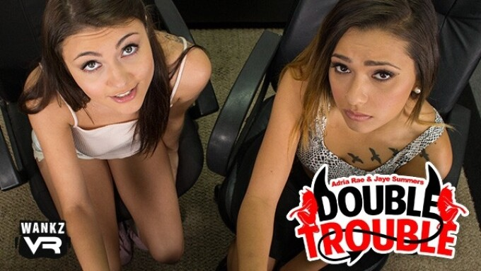 Adria Rae, Jaye Summers Featured in WankzVR's 'Double Trouble'
