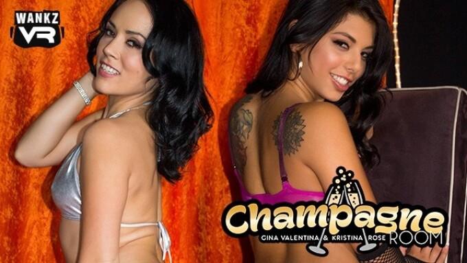 Kristina Rose, Gina Valentina in 'WankzVR Champagne Room'