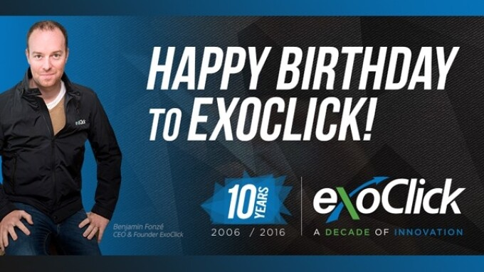 ExoClick Celebrates 'Decade of Innovation'
