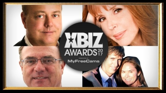XBIZ Announces 2017 Pioneer Award Honorees