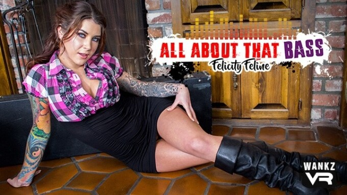 Alt Star Felicity Feline in WankzVR's 'All About That Bass'