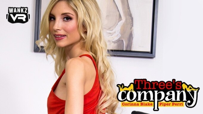 Piper Perri Joins Corinna Blake in WankzVR's 'Three's Company'