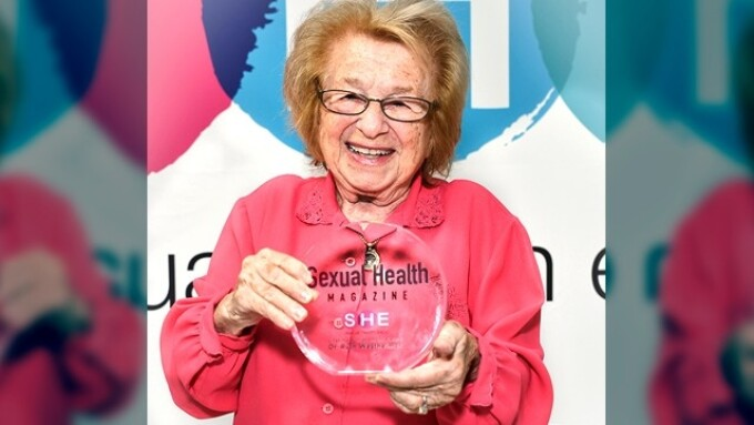 Sexual Health Mag Honors Dr. Ruth With Lifetime Achievement Award