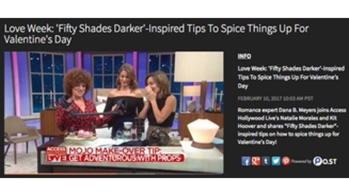 Lovehoney's Fifty Shades Darker Line Featured on NBC's 'Access Hollywood'