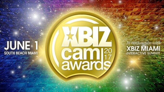 XBIZ Cam Awards Announced, Set for June 1 in Miami