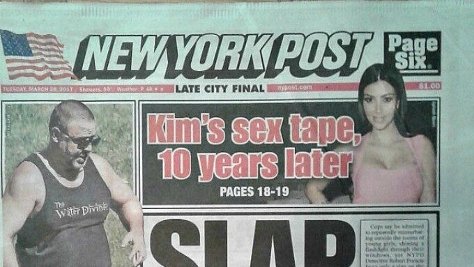 N.Y. Post Story Celebrates 10-Year Anniversary of Kardashian Sex Tape