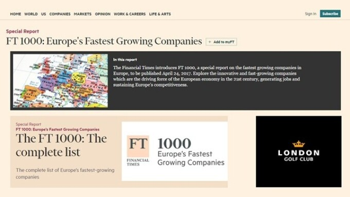 ExoClick Named to Financial Times 1000