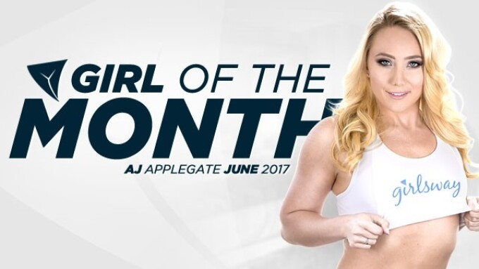 AJ Applegate Named Girlsway Girl of the Month