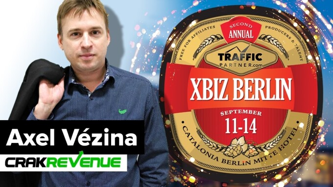 CrakRevenue's Axel Vézina to Keynote XBIZ Berlin 2017