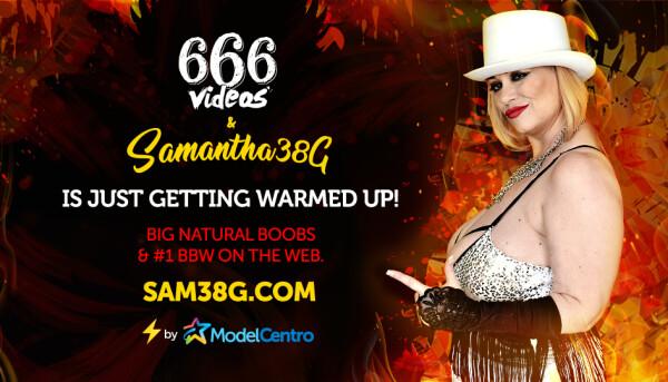 Samantha38G Joins ModelCentro, Offers 666 Devilishly Hot Videos