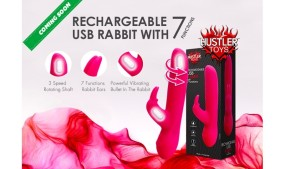 Hustler Toys Rechargeable USB Rabbit Now Available for Pre-Order